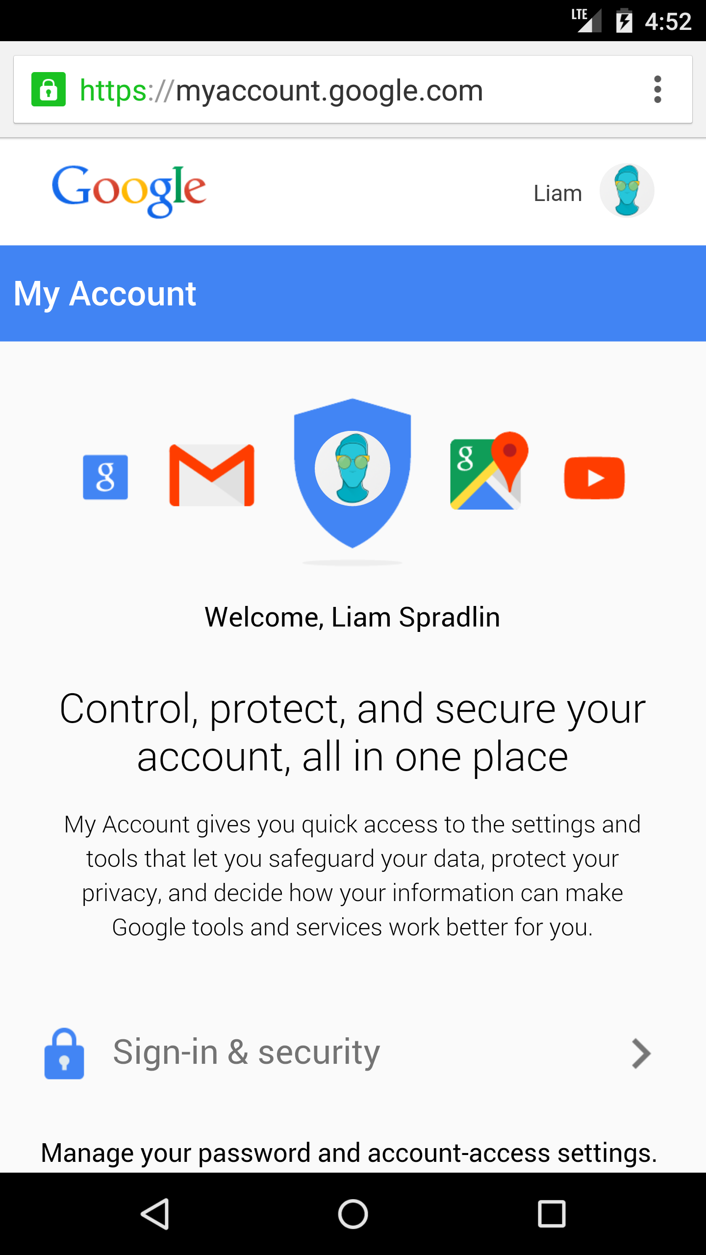 Google's New 'My Account' Interface Makes Checking And