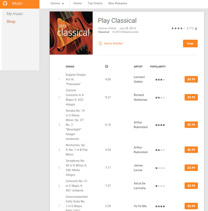 how to delete music albums from google play