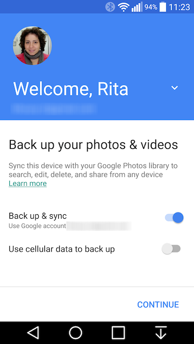 how to change google photo settings