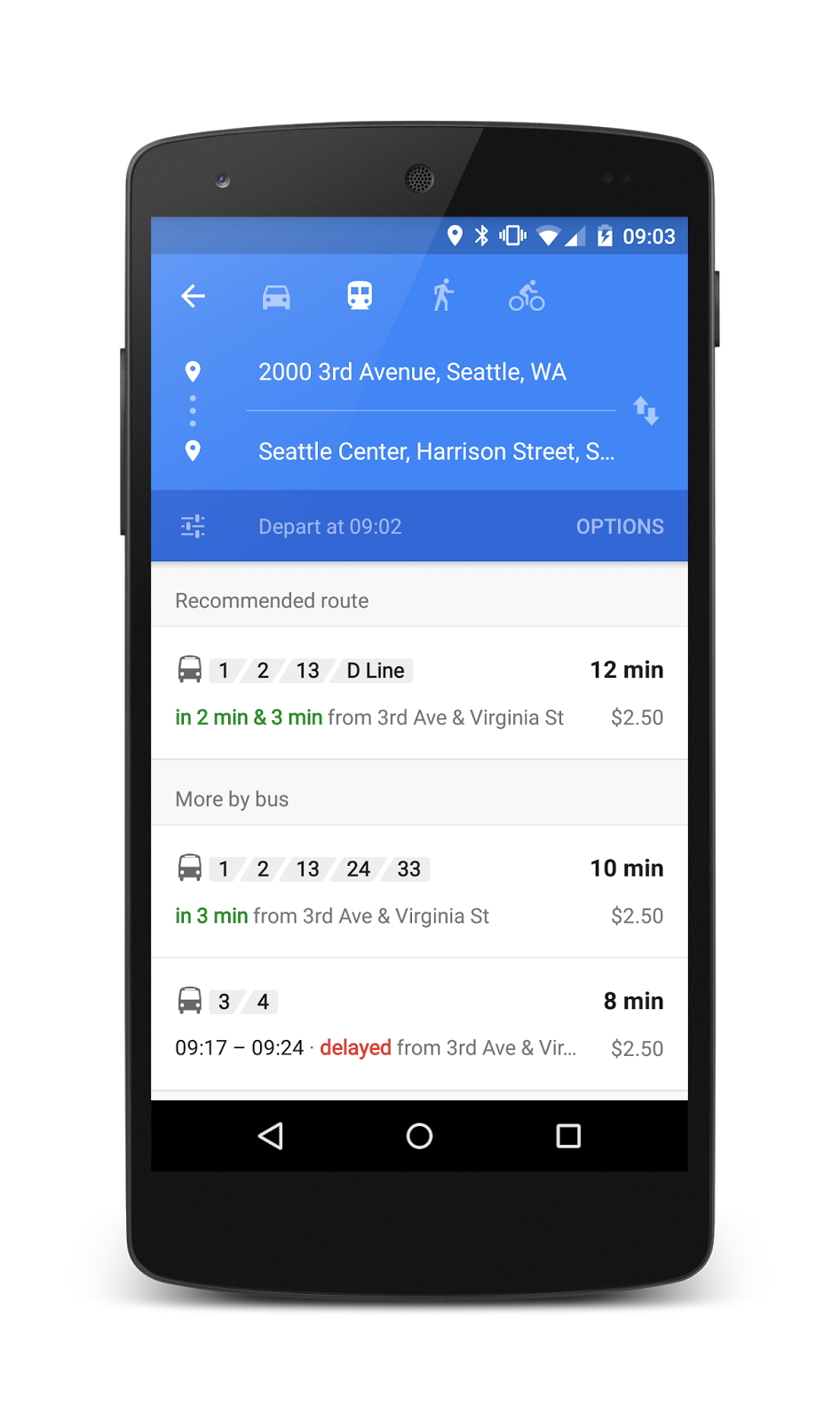 Starting Today, Google Maps Will Show Real-Time Public Transit