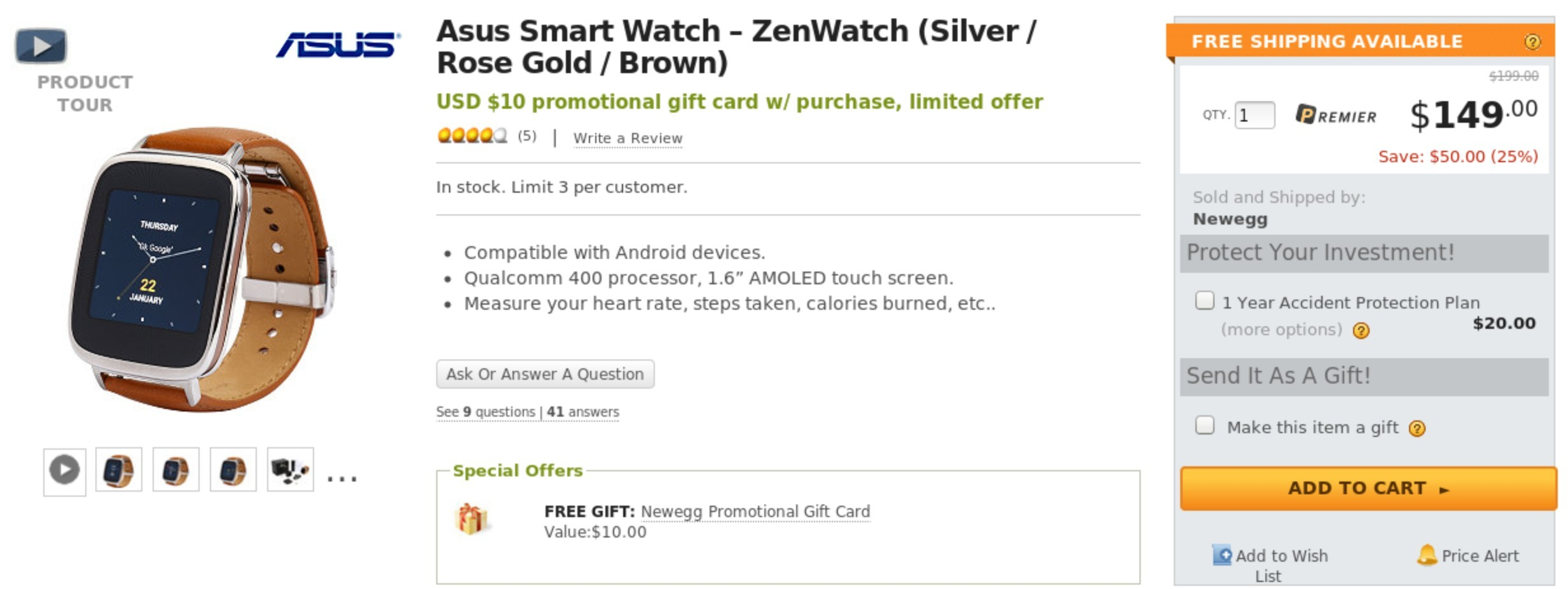 Deal Alert] Buy An ASUS ZenWatch For $150 (25% Off) On Newegg And ...