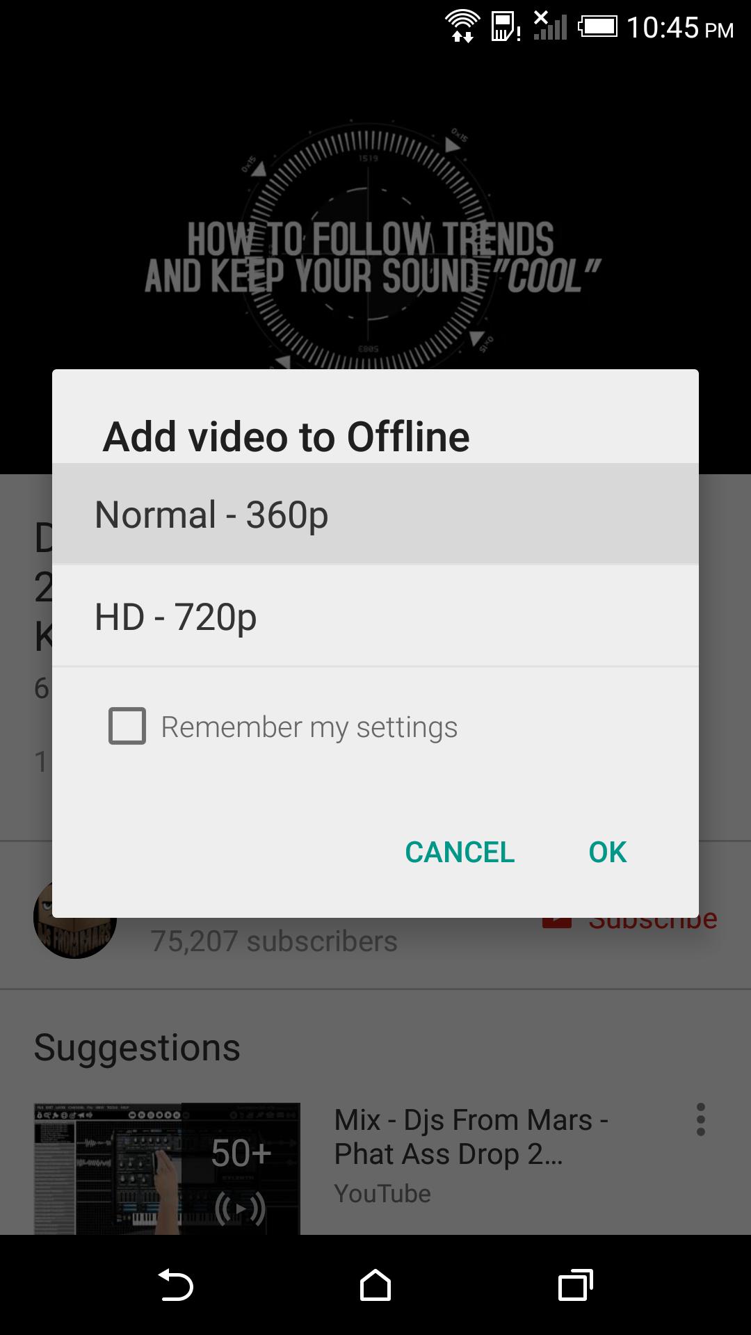 YouTube v10 28 Improves Offline Download Dialog With 144p