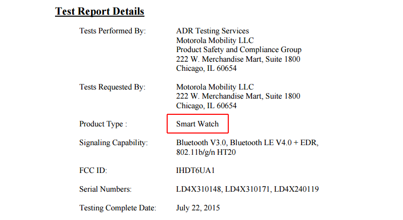 A Motorola Smart Watch Just Passed Through The FCC, Probably The New
