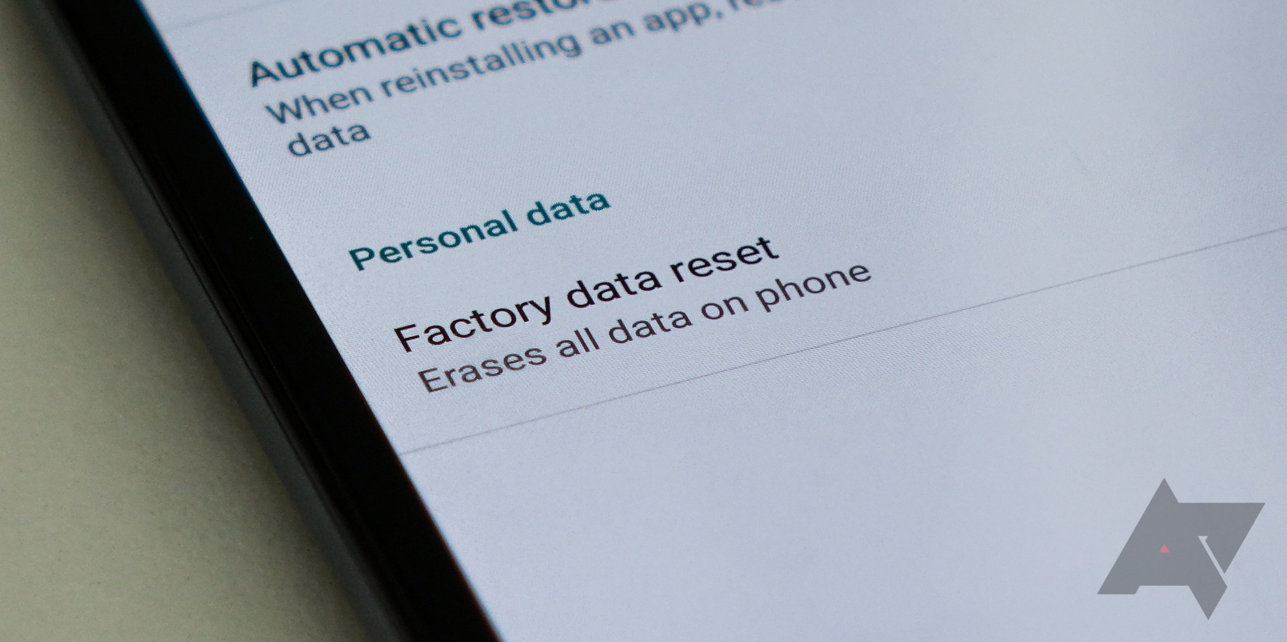 Don't Change Your Google Password Before Factory Resetting Your