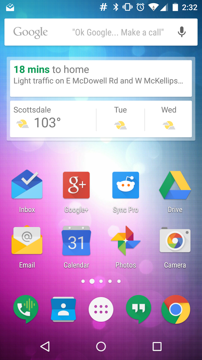 how to get ok google on home screen