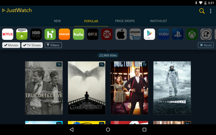 Android app for watching movies and tv shows : Trailer test questions