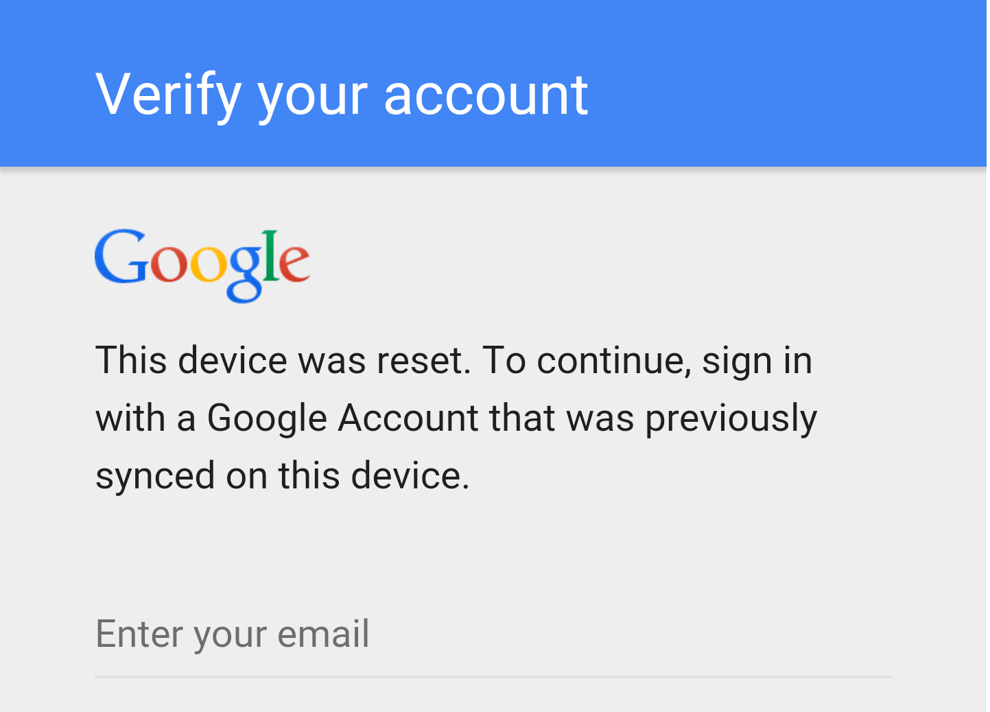 Don't Change Your Google Password Before Factory Resetting