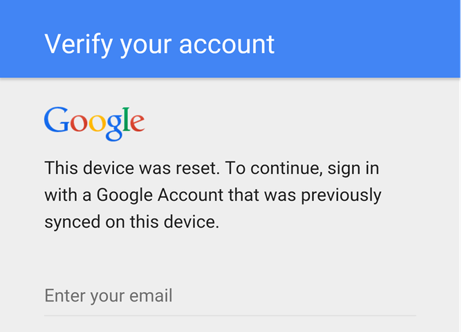 Don T Change Your Google Password Before Factory Resetting