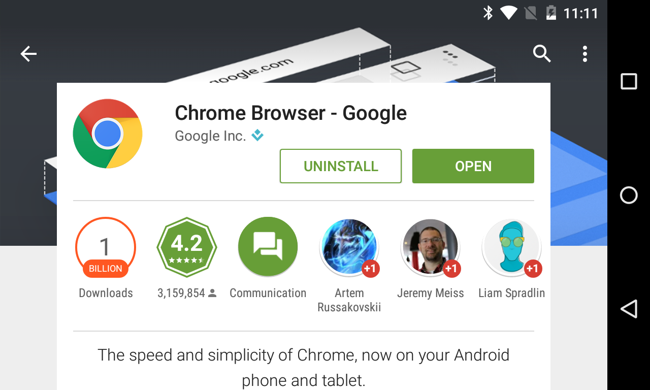 Chrome For Android Hits 1 Billion Installs On The Play Store