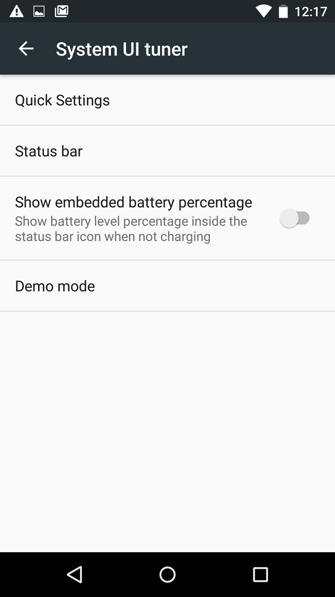 Android M Feature Spotlight] Demo Mode Hides Notifications, Sets