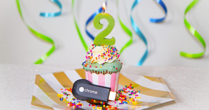 Google Celebrates The Chromecast's Second Birthday With Free Rentals For All Owners (Even Android TV), Plus A Small Discount