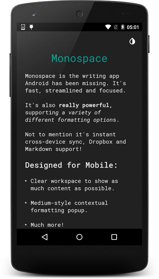Minimal Text Editor Monospace From Underwood Apps Is Now