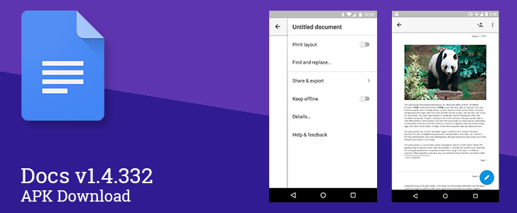 Print layout view in google docs now rolling out to for Google docs for android apk