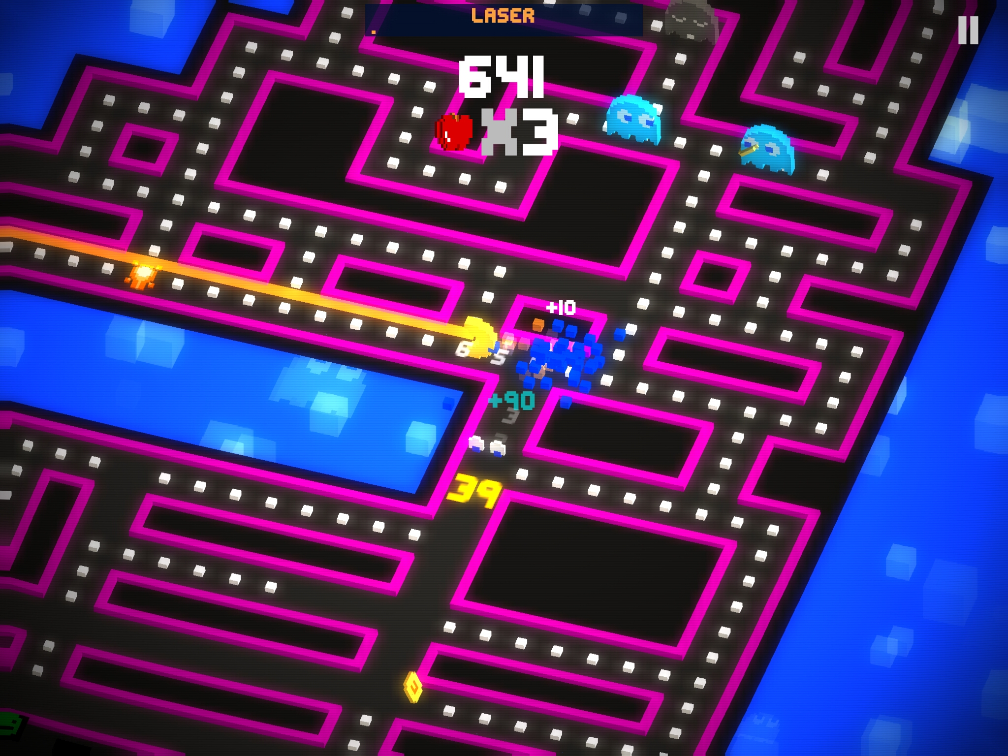 just days after releasing a new gameplay teaser pac man 256 from hipster whale has hit the play store this officially licensed take on pac man is part