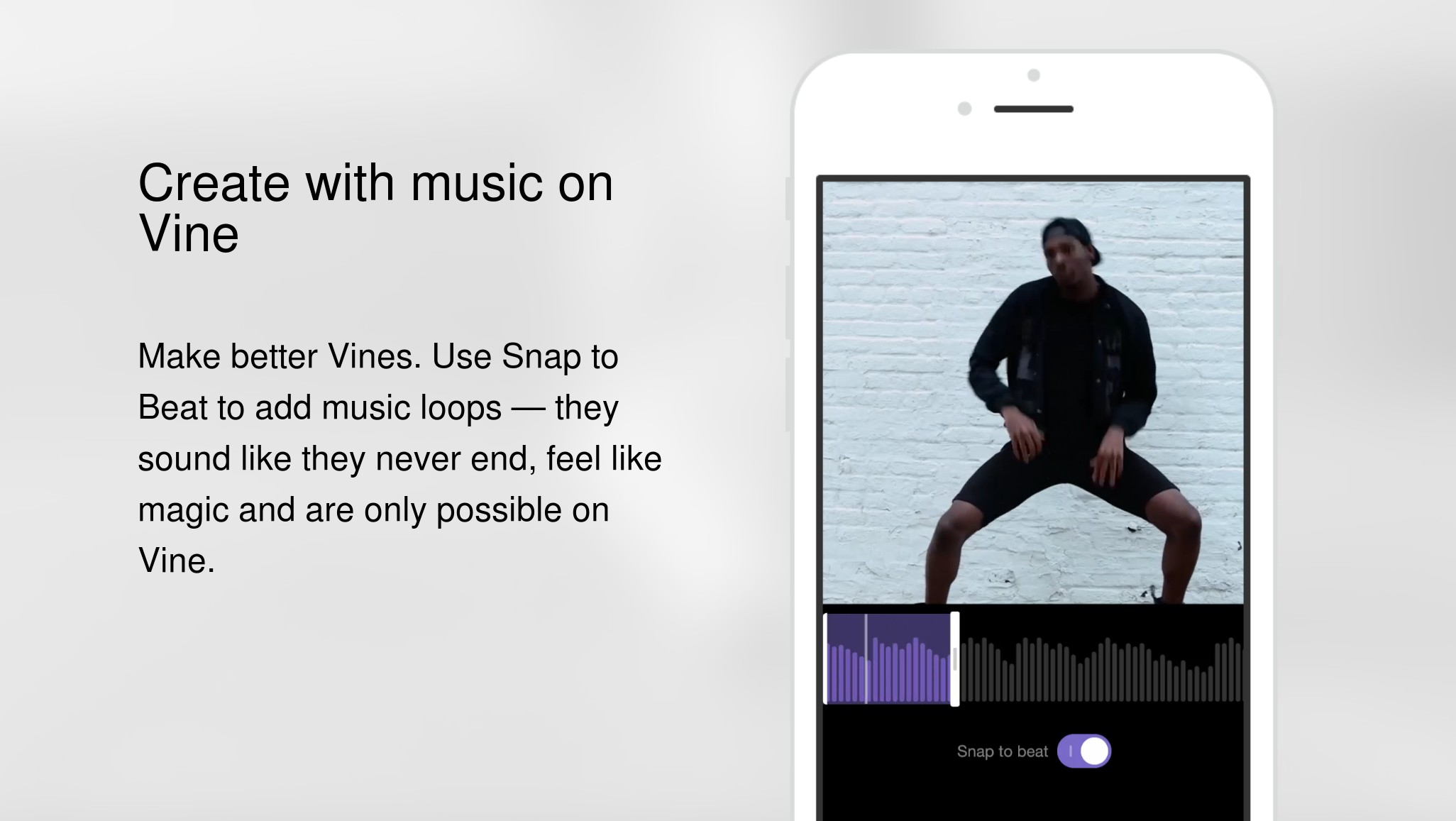 Vine places a greater emphasis on music with new snap to beat the feature helps users visualize the best point to loop a song and trim the audio clip inside the app alternatively you can turn off snap to beat and ccuart Gallery