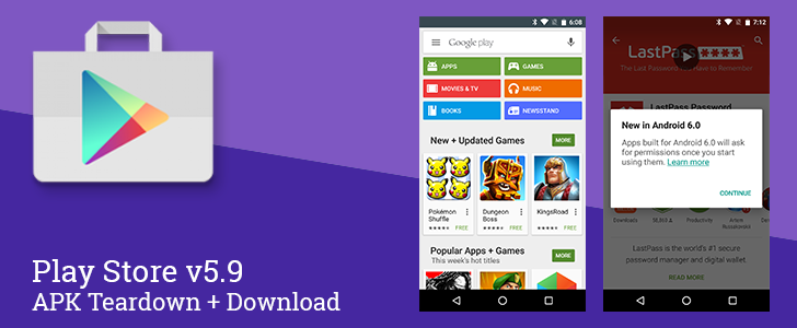Play Store v5 9 Begins Preparation For Android 6 0, Adds Support For