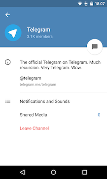 Telegram v3 2 Brings Channels For Broadcasting Your Messages To The