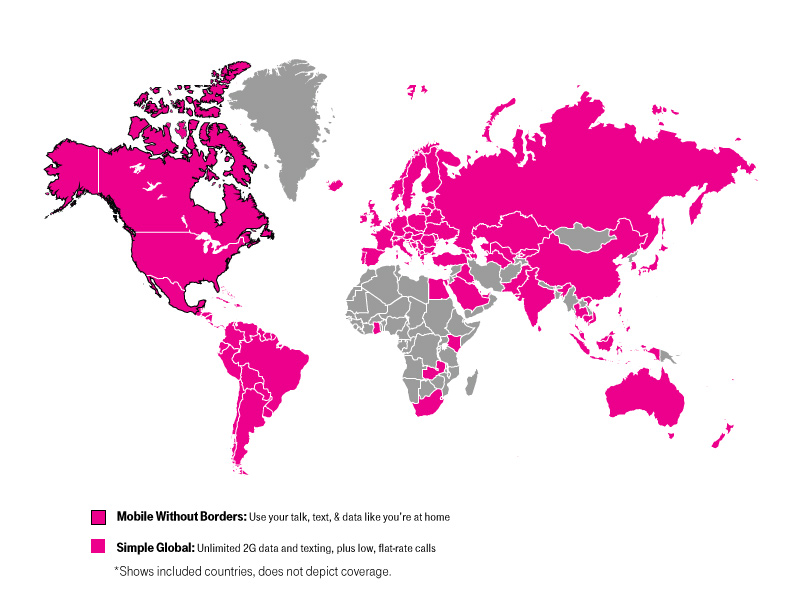 T-Mobile Expands Simple Global Coverage To 20 More Countries And ...