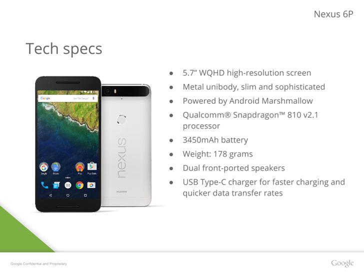 [Update: More Specs] Nexus 6P Presentation Leak Includes ...