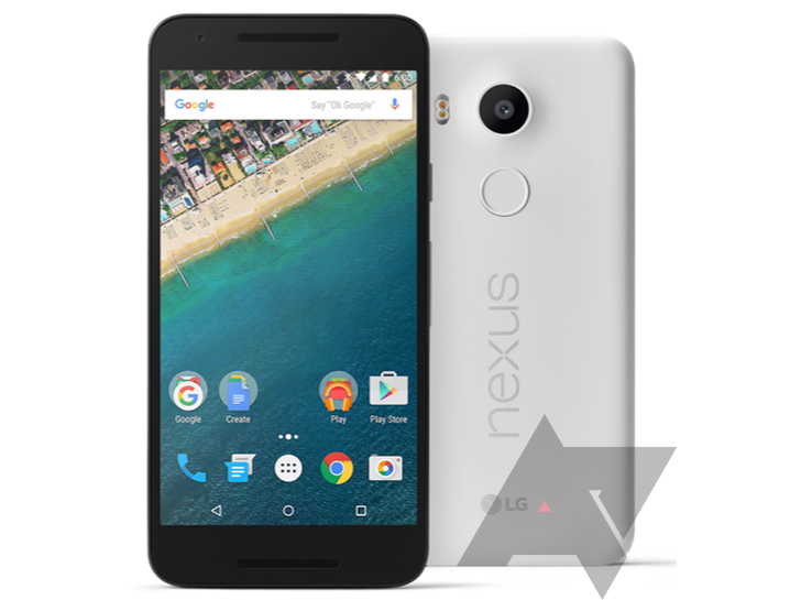 [Exclusive] Behold The Leaked Press Renders Of LG's Nexus 5X In White, Black, And Greenish Blue