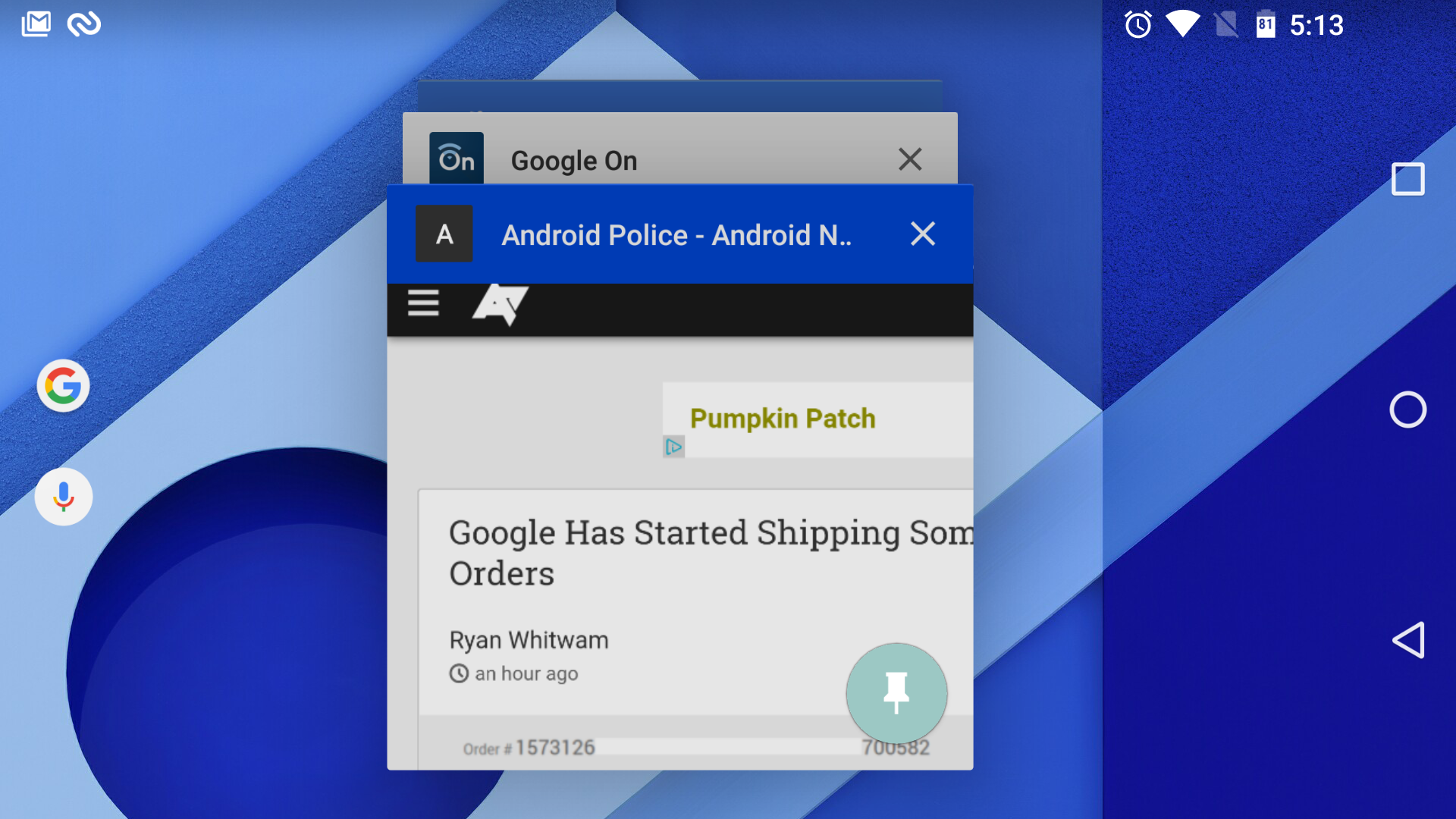 [Update: Mystery Solved] [Android 6.0 Feature Spotlight] App Info Menu Is Now Just A Tap Away From The Recent App List