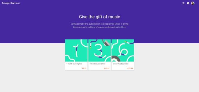 PlayMusicGiftSubscriptionsUK