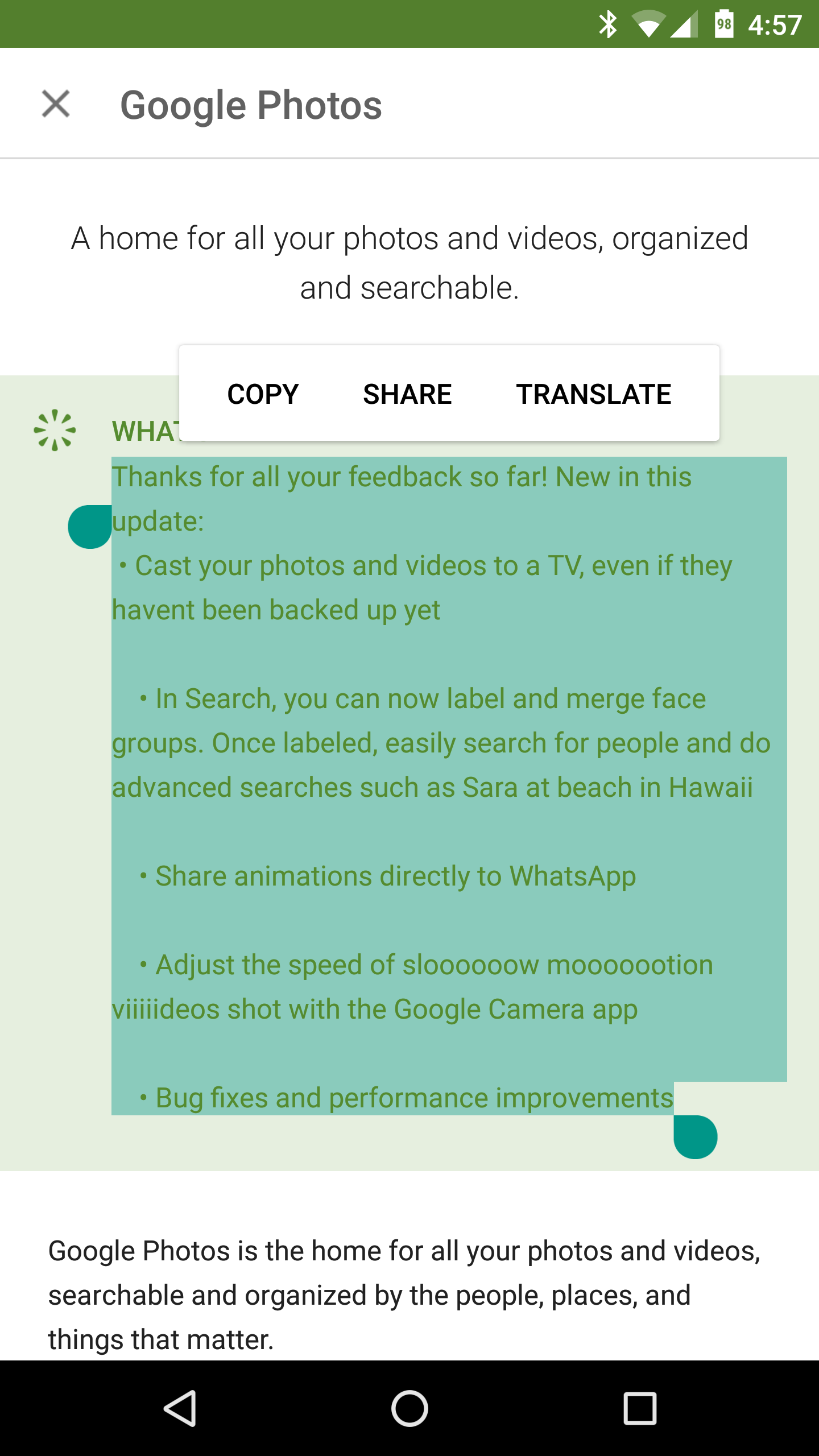 [Copy All The Things!] You Can Now Copy Changelogs And App ...