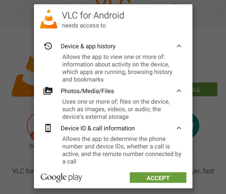 VLC-Permissions