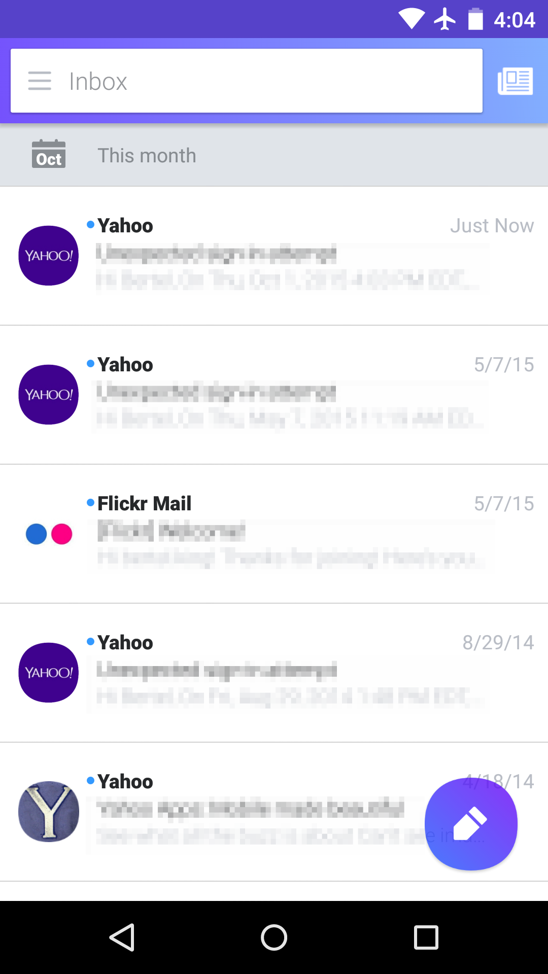 yahoo android email app