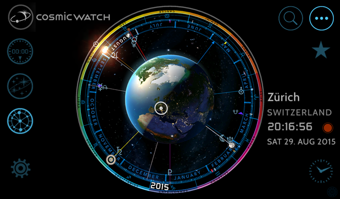 Cosmic Watch Is A Beautiful Model Of The Universe For Your Phone Or Tablet