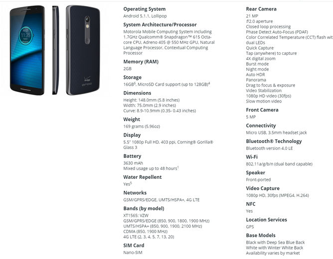 Verizon Announces The Mid-Range Motorola DROID Maxx 2 With A