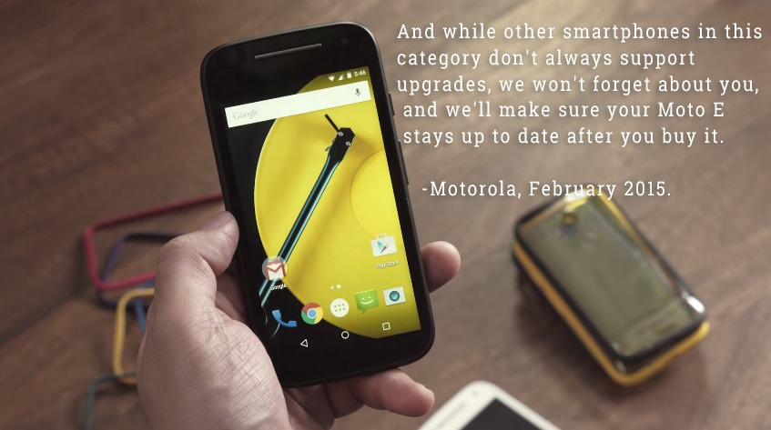 Motorola Says The Moto E 2015 Is Getting Marshmallow After All, Just