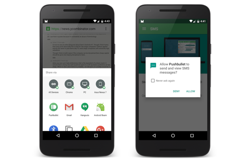 Latest Pushbullet Update Implements Android Marshmallow's Direct