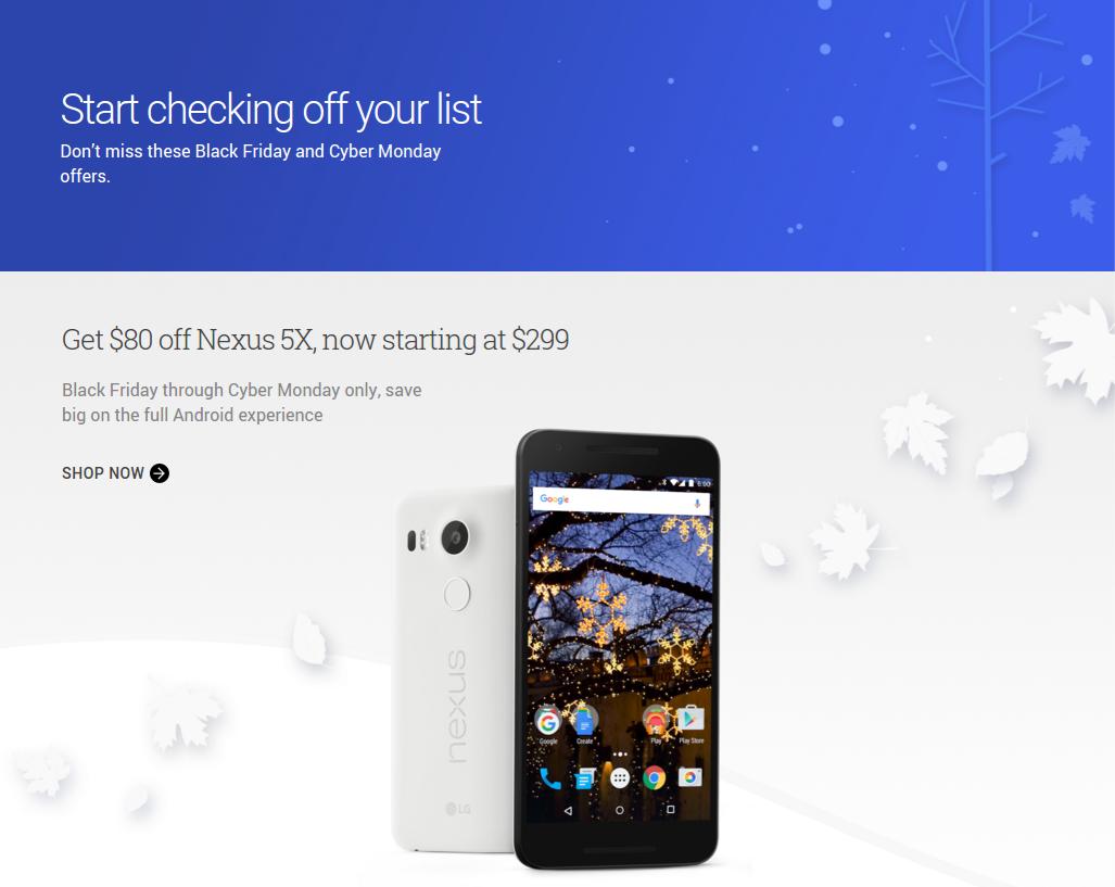Google deals black friday