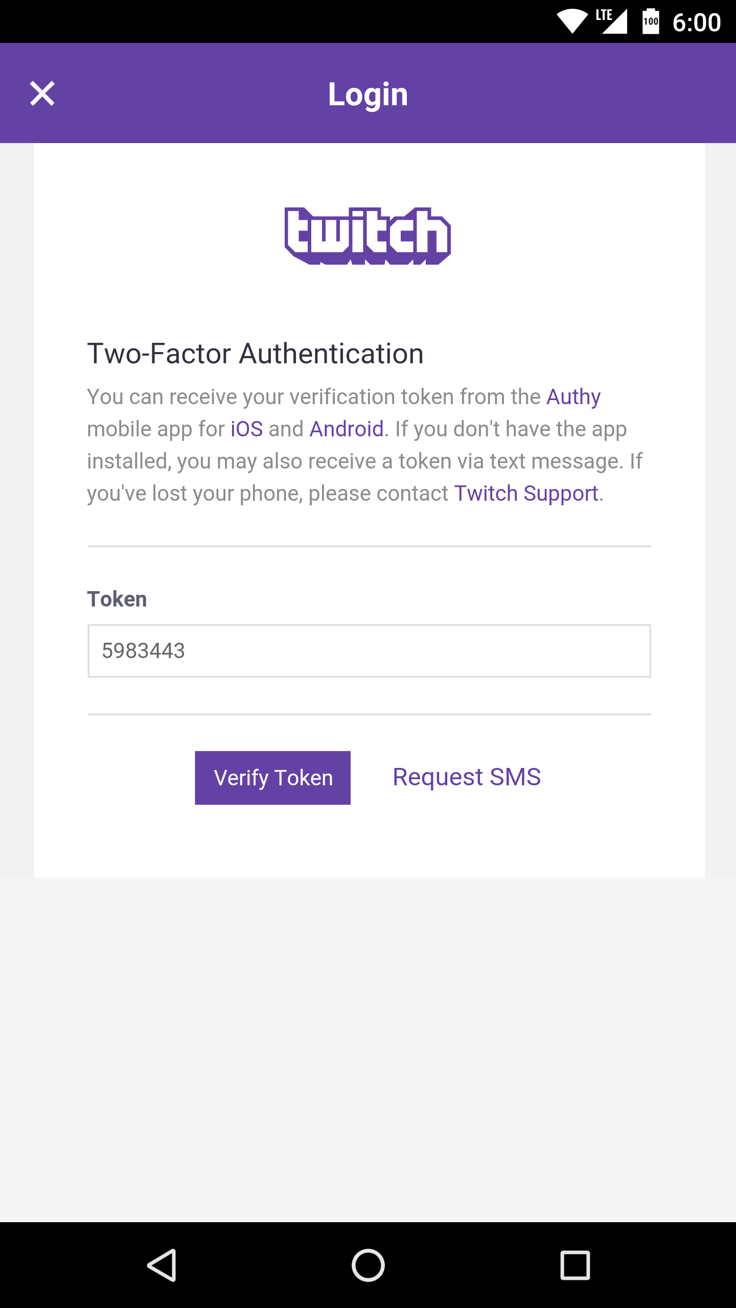 how to connect authy to twitch