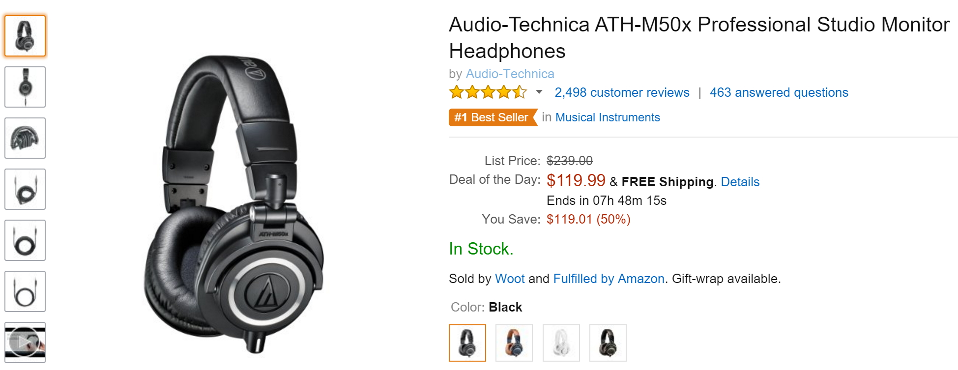 [Deal Alert] Audio-Technica ATH-M50x Available At Their ...