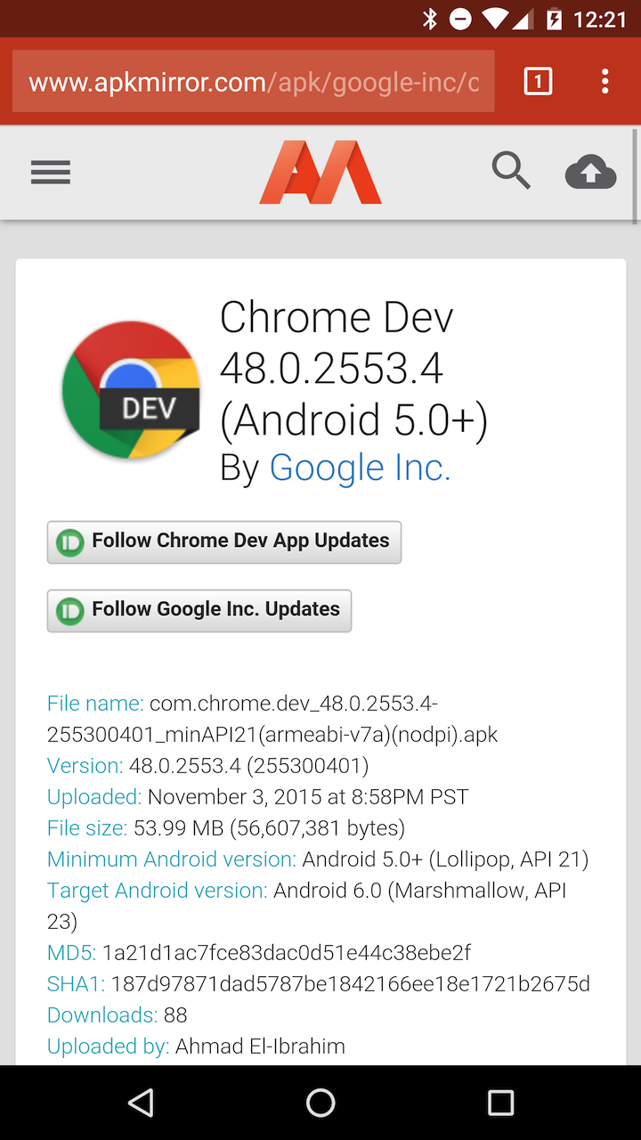Google chrome dev apk mirror | Download Google Chrome APK  2019-11-23