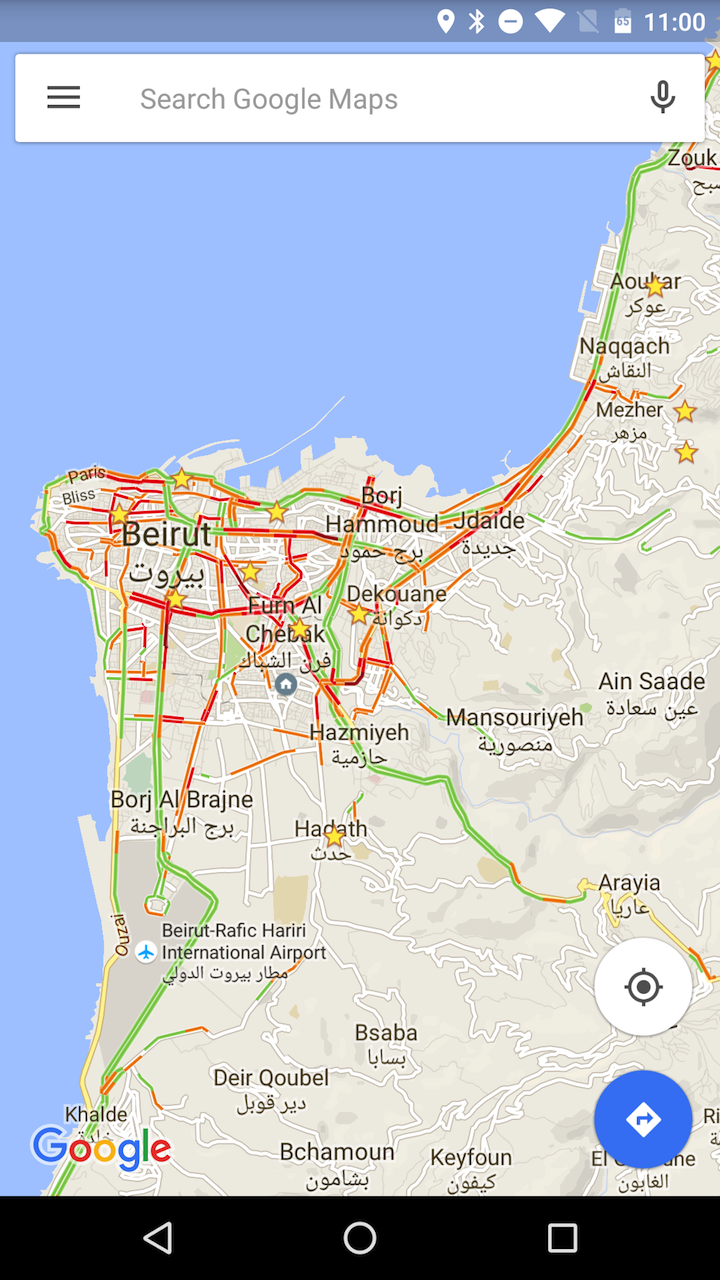 PSA: You Can Enable Google Maps Traffic View In Countries ... Google Map With Traffic View on google traffic map boston, google maps sidewalk view, google india map with city, google live traffic, google maps bird's eye view, google maps street view, google maps map view, google traffic data, google maps terrain view,