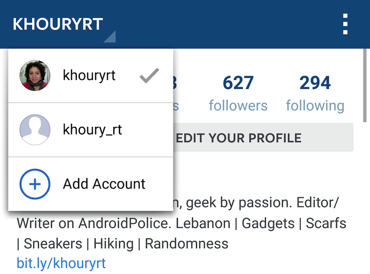 This is actual news instagram starts rolling out multiple account android police ccuart Choice Image