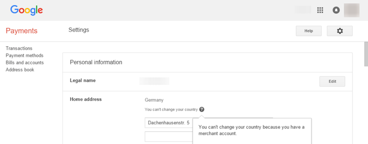PSA: You Can Never Change Your Google Account's Country If