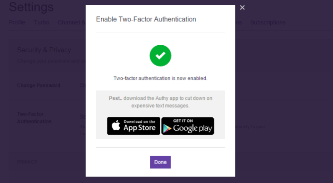 Twitch Adds Two-Factor Authentication