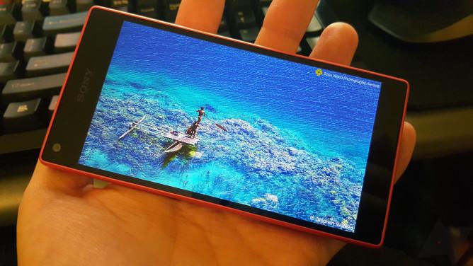 skrin paparan sony xperia z5 compact