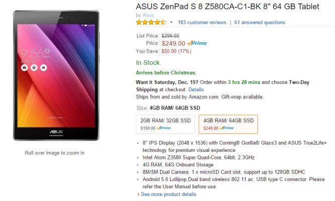 2015-12-17 15_43_57-Amazon.com _ ASUS ZenPad S 8 Z580CA-C1-BK 8_ 64 GB Tablet _ Computers & Accessor