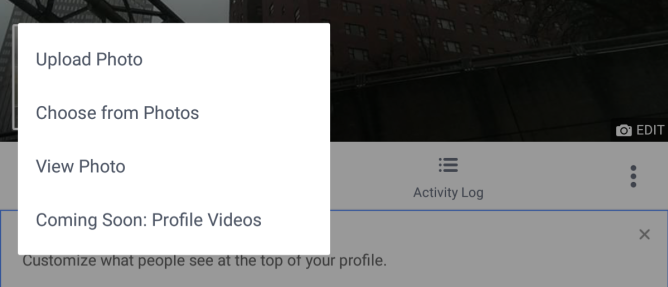 FacebookVideoProfileOption