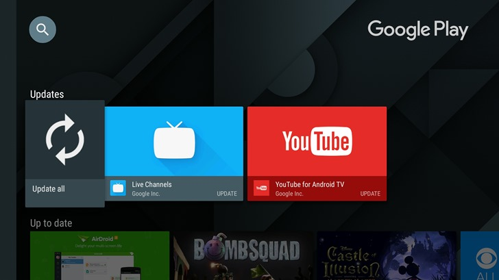 The Latest Version Of The Google Play Store For Android TV Brings