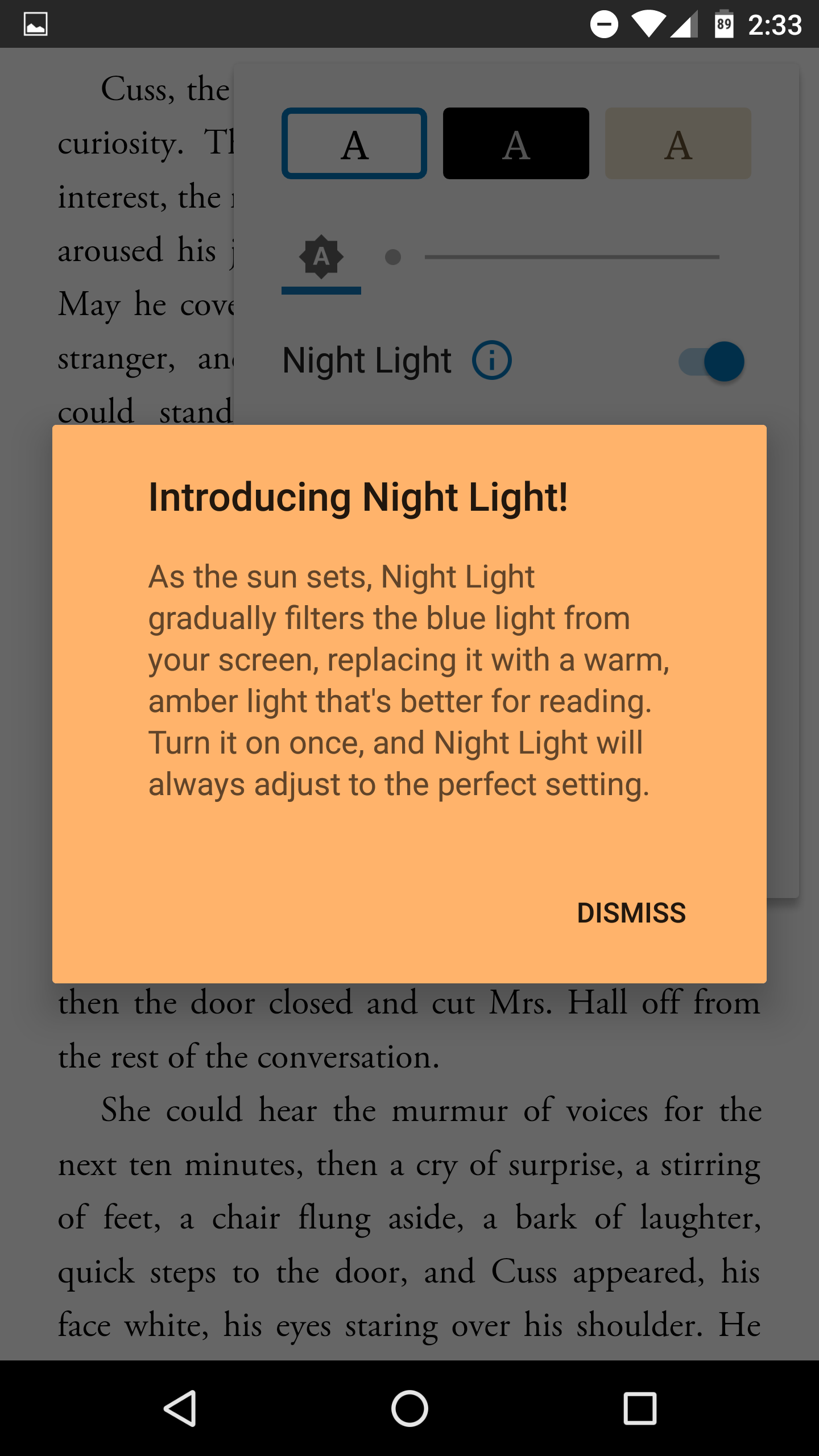 google play books 3 7 45 adds a night light that makes evening