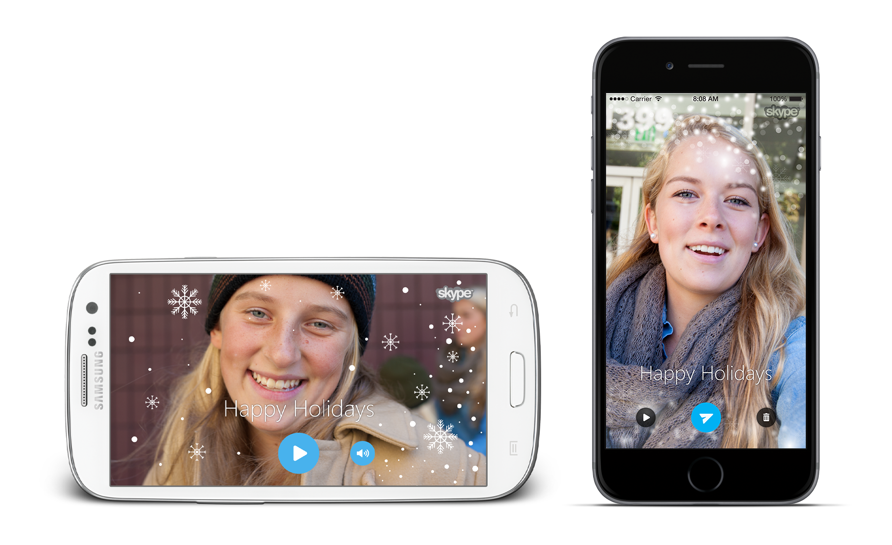 Let It Snow] Skype App Gets Holiday-Themed Update With Video Cards