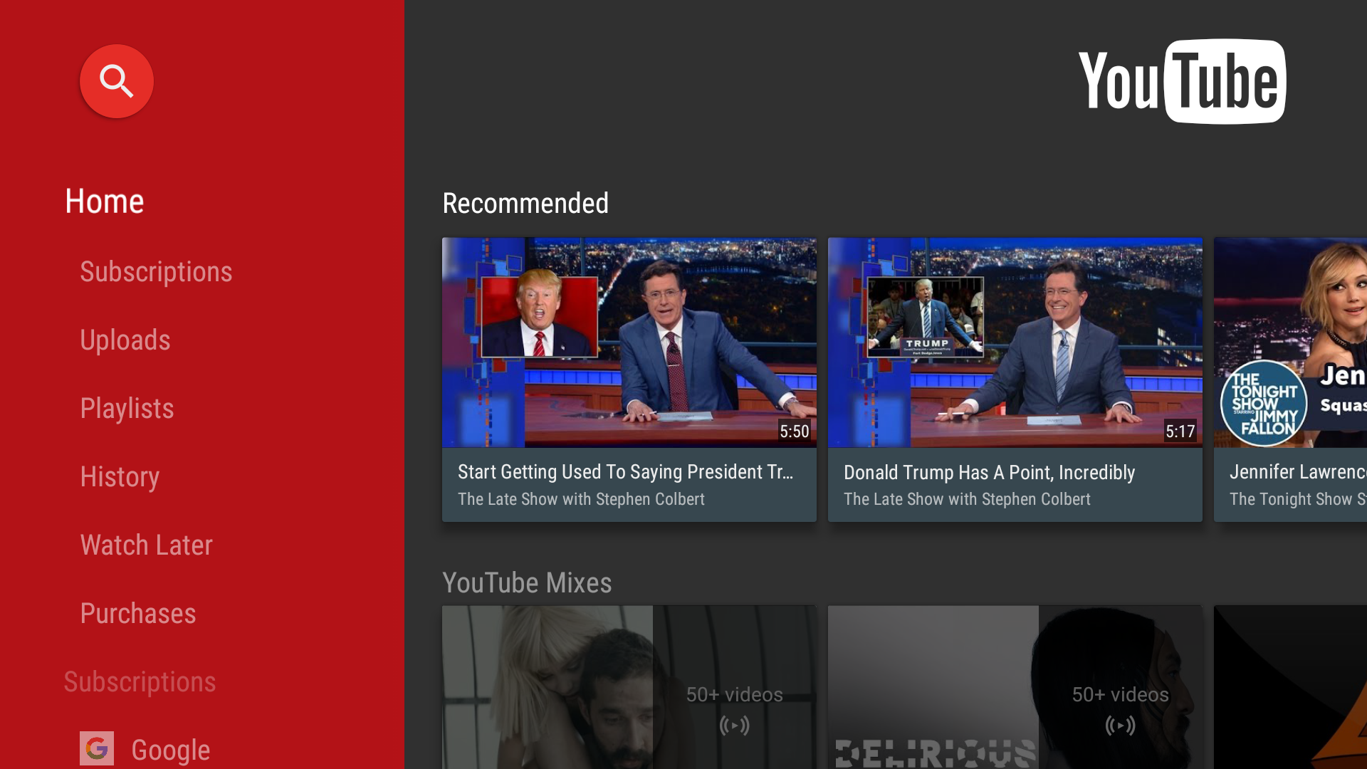 YouTube For Android TV v1 3 8 Adds Buttons To Manage Subscriptions
