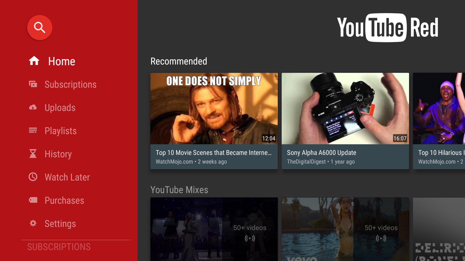 YouTube For Android TV v1 3 8 Adds Buttons To Manage