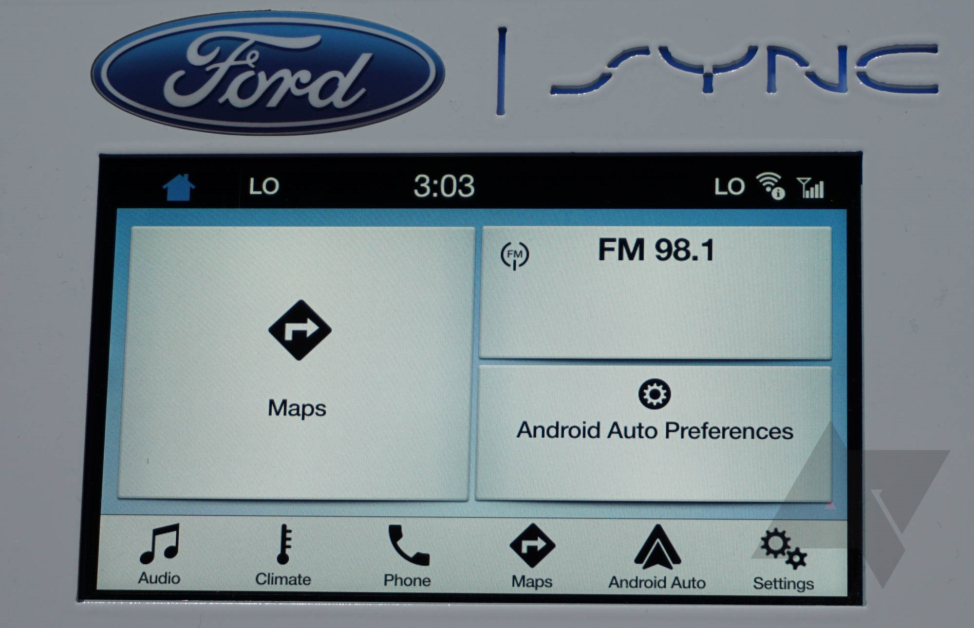 ces 2016 ford shows off its android auto implementation on the sync 3 platform. Black Bedroom Furniture Sets. Home Design Ideas